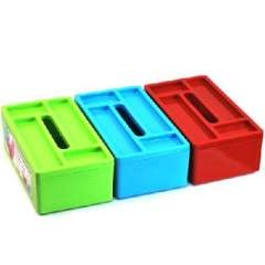 ( 9724 ) with four color random Jianmei grid storage box with a tissue box more