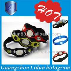 Supply all kinds of colorful magnetic balance silicon power bracelet