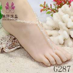 Latest beach anklet jewelry, wholesale anklet jewelry, crystal barefoot sandles 2013