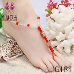 crystal barefoot sandals, sexy barefoot anklet, foot jewelry 2013