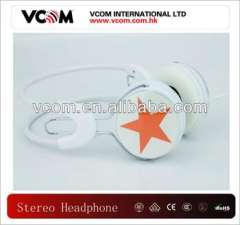 Stereo and fashionable headphone