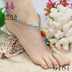 Trendy sexy crystal anklet, wholesale manufacturer, foot jewelry