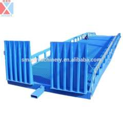 10T Hydraulic mobile loading and unloading ramp, forklift ramp, container ramp