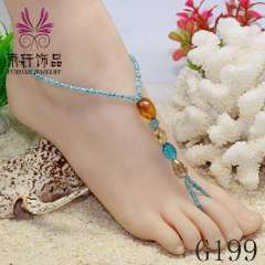 Sexy barefoot jewelry, beach anklet jewerly, fashion crystal anklet jewelry