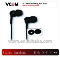 stereo black earphone