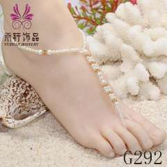 Crystal Barefoot Sandals, Crystal Barefoot Wedding Jewelry, pearl anklet jewelry