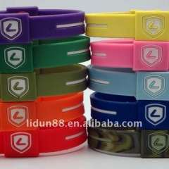 Australia Christmas Gift New Brand Lidun Hot Sell Silicone Bracelet with Energy Holograms