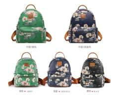 Pucca Love birds female Korean leather backpack