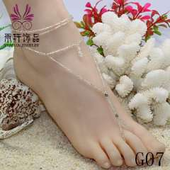 Crystal Barefoot Sandals, Popular barefoot anklet jewelry, beach, toe, anklet