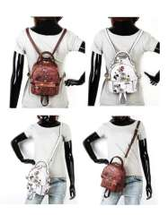 Pucca Monkey female fashion printed messenger backpack