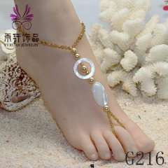 popular handmade fashion anklet jewelry, bead anklet, sexy beach barefoot jewelry