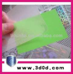 transparent waterproof PVC business card