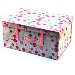 Purple circle coated waterproof large storage box (60 * 40 * 30 )