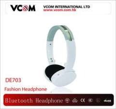 White Classic Folded Stereo Wireless Headphone