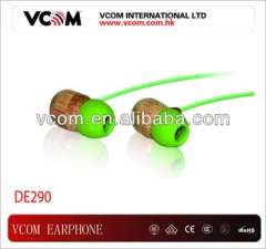 New Style Environmental Fashionable Bamboo in-ear Stereo Earphone
