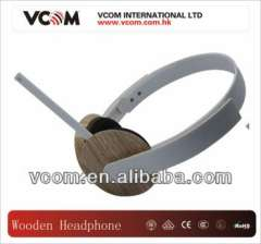 wooden fashionable headphone with microphone