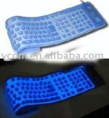 flexible computer keyboard and have cold light