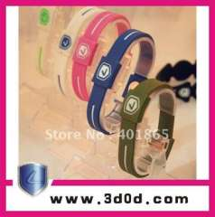 2012 USD Silicone Bracelets in Hologram 100%silicone Paypal-available
