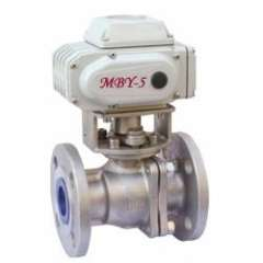 Electric stainless steel ball valve / electric lined ball valve
