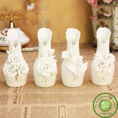 Free Shipping Exquisiteness White Vase Table Brief Fashion Ceramic Vase Modern China Ceramic ornaments High Quality Gift