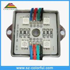 4pcs 5050smd led rgb module high brightness factory promotion led module lights SMD5050 RGB color waterproof IP65