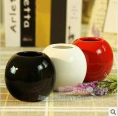 Free Shipping, 3pcs\lot, Furnishings fun brief ball vase artificial flower home decoration wedding gifts
