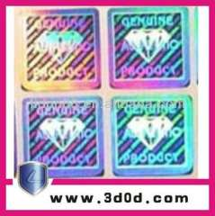 Hot stamping anti-counterfeiting hologram labels