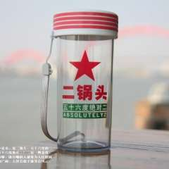 Quotations personalized portable cup / Creative transparent glass