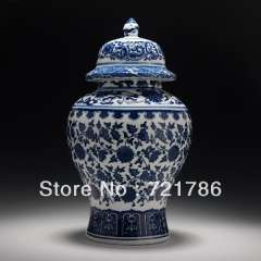archaize chinese handmade blue and white porcelain pot qianlong marked