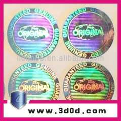 3D hologram laser anti-fake labels for CDs