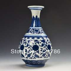 1 archaize Chinese Blue and White Porcelain Vase Home Decorate Vase Adornment Upscale gift qianlong marked