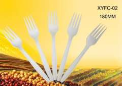 disposable fork eco-friendly biodegradable 7 inch XYFC-02
