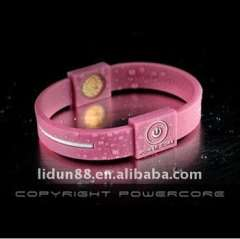 silicone rubber bracelets with charm