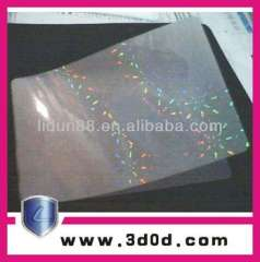 Supply all kinds of Anti-counterfeit self adhesive holographic film