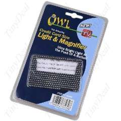 The card | LED light | magnifying glass