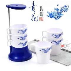 Creative six sets of blue and white rhyme cup / cups (561B)
