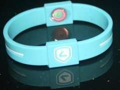 100%silicone Guarantee 2012 America Sport Silicone Balance Bracelets in hologram