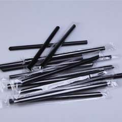 Individually wrapped tea straw / disposable plastic straw thick black pearl milk tea / juice straw -85 branch