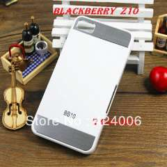Ho sell!! PC + metal case for Blackberry Z10, 7 colors fashion case for Blackberry, FREE SHIPPING!