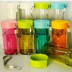 Portable Colorful transparent sealing glass / Portable Sports Cup | Random colors
