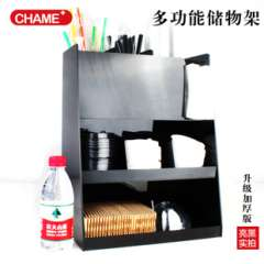 A US cups | 8 Ge Yake force black pyramid complex storage rack towel rack placed straw fork spoon chopsticks