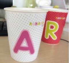 Readily simple letter ceramic cup (A)