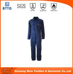 100% cotton fire resistant workwear coverall PPE for welding industry