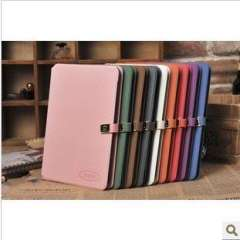FASHION case for iPad Mini Free shipping with 2 card holders pink purple orange red blue and white
