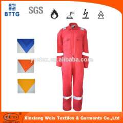 100% cotton fire resistant workwear coverall PPE for welding industry Quality Assured