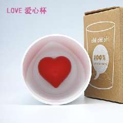 Genuine 100% creative loving cup | White | Red or stool