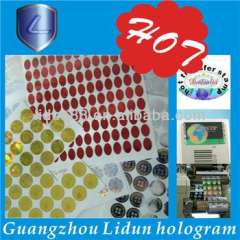 Promotional 1 inch round stickers, printed round stickers, round transparent stickers