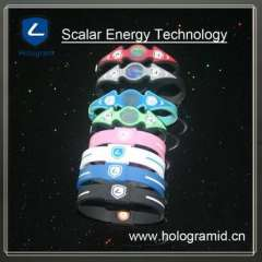 2012 HOT ! silicone bracelet\Bilezik with ion and hologram label for gift