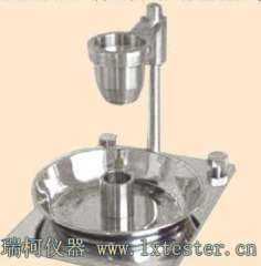 Activated clay bulk density measuring device