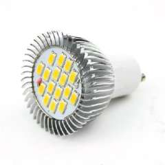 GU10 16LED warm white without cover SMD 5630 6W 220V 450 lumens